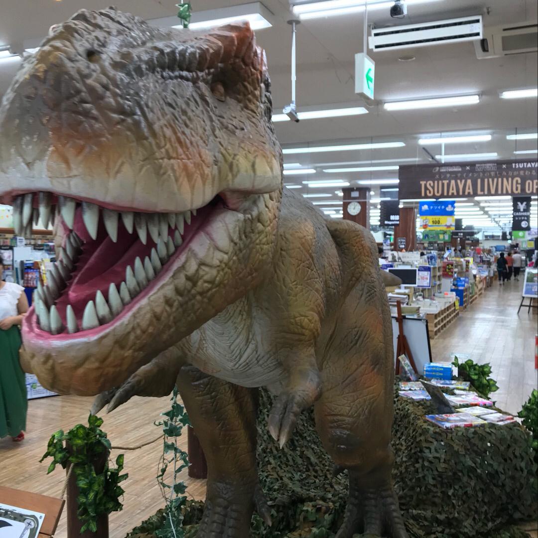 店内入ったら割とでかい恐竜か動いてた😱  #TSUTAYA #イオ...