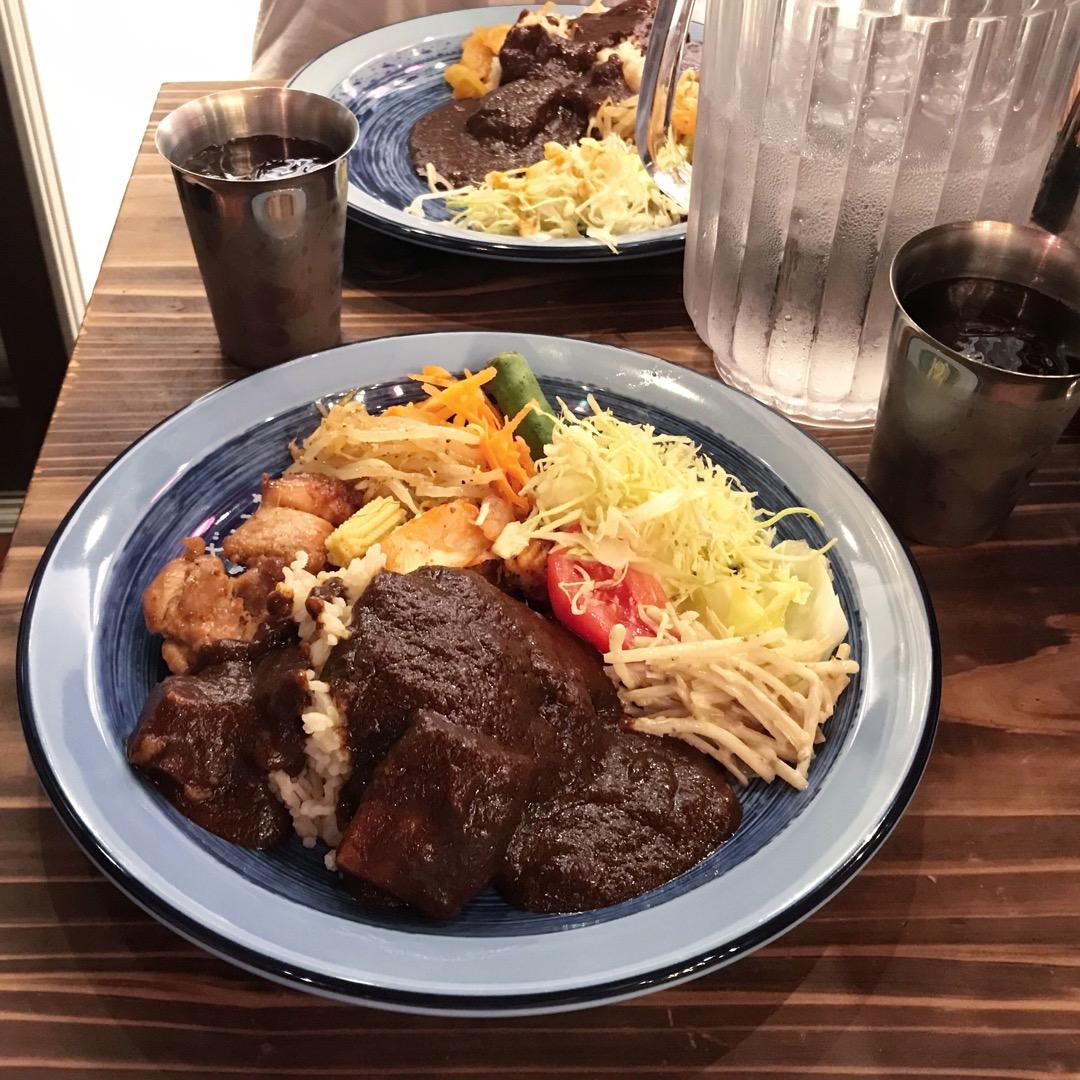 大名古屋ビルヂング地下の、もうやんカレー お昼はビュッフェ、、美味...