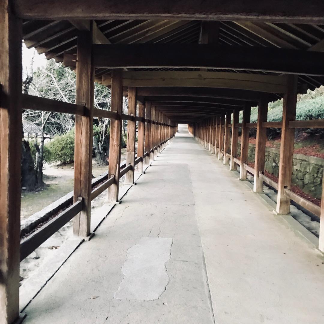 吉備津神社。回廊。 吉備津神社といえばこの風景ではないでしょうか?...