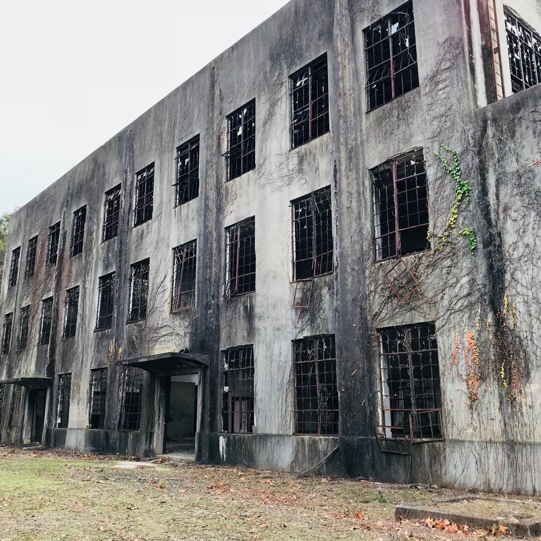 大久野島。発電所跡。 戦時中はこの島で毒ガスが製造されていました。...