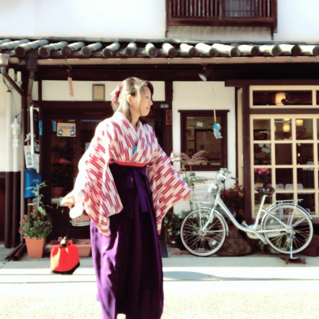 倉敷市美観地区。はいからさんがとおる。 ずっと憧れだった矢絣袴。倉...