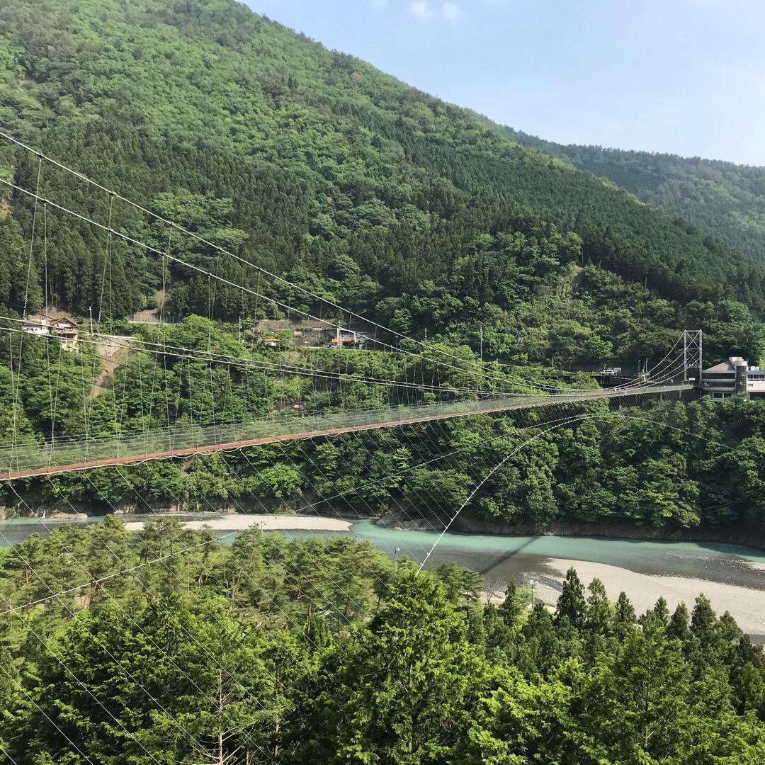長さ297.7m 高さ54m 日本一の谷瀬の吊り橋 絶景でした💕