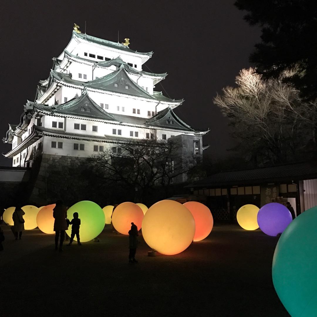 #チームラボ 名古屋城でのインスタレーション、今日まで。 #浮遊す...