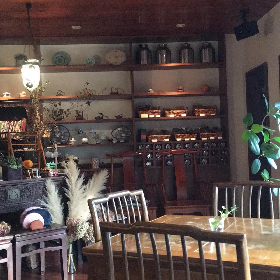 ずっと気になってたお店に来ました♡ 中国茶専門店✨ #江南 #上海...