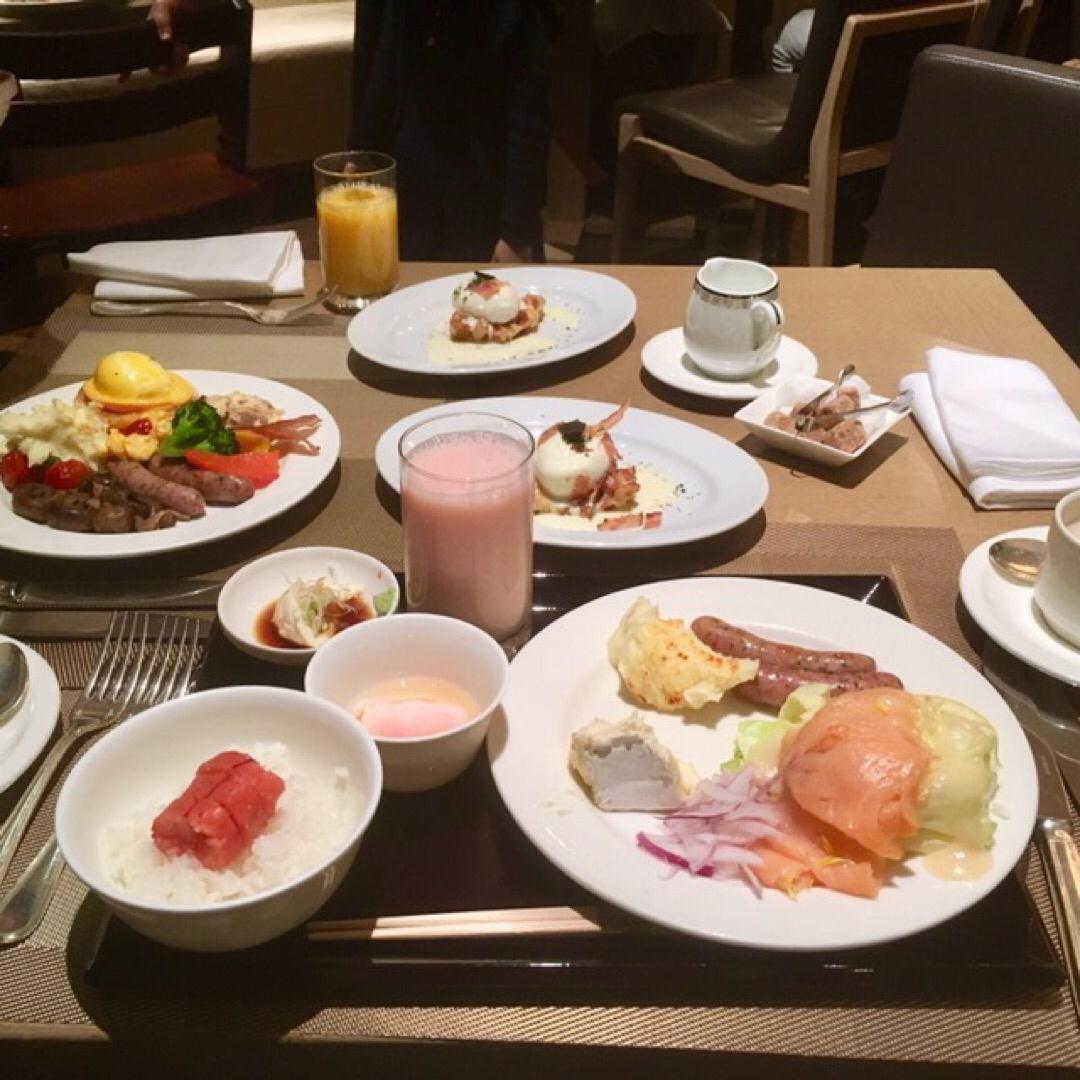 コンラッド東京のモーニング🍽 お腹がパンパンになるまで食べた😋