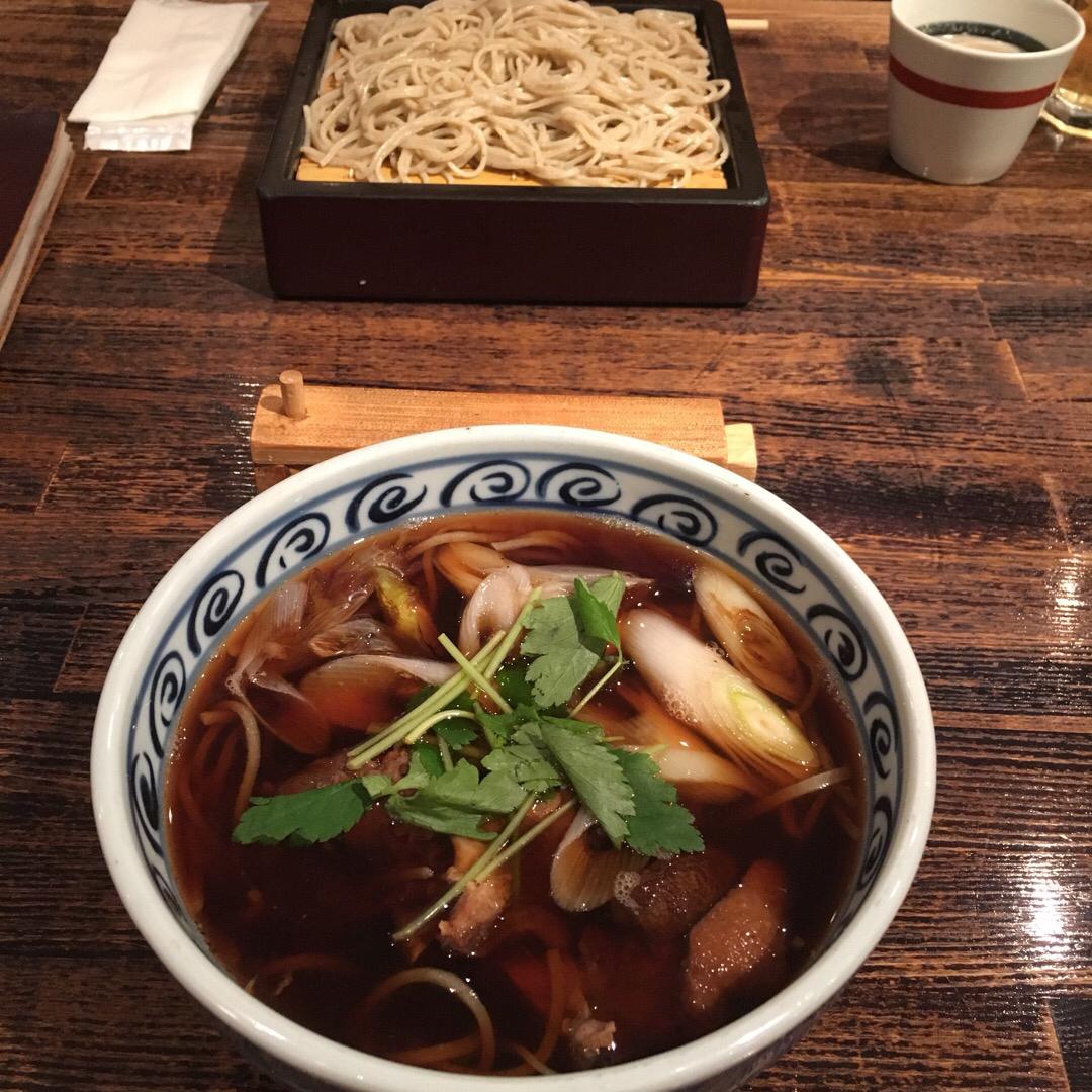 麻布川上庵 鴨そば🦆鴨はもちろん、ネギがとっても美味しかった!