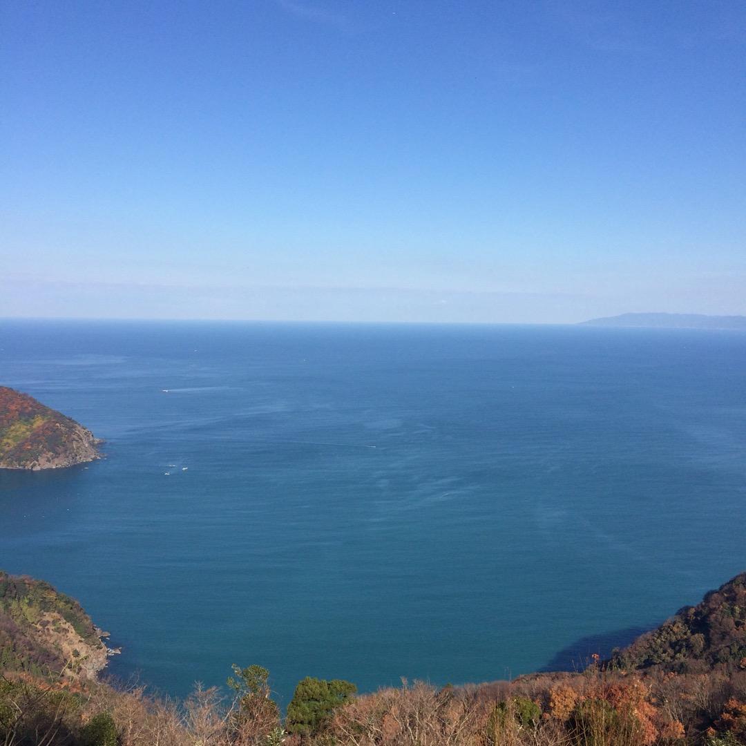 #レインボーライン に来た。三方五湖も見えるし、若狭湾も見えるし最...