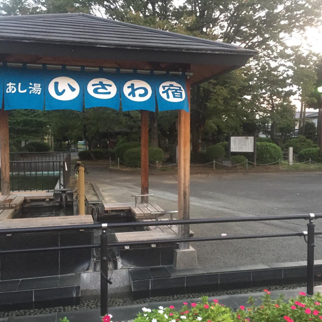 石和温泉郷にある無料の足湯   6〜8月は10:00〜18:00、...